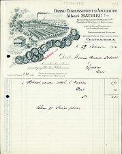 Dépt 36 - Chateauroux - Le Miel - Superbe Grand Ets d'Apiculture du 29/01/1912