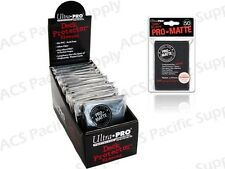 600 ULTRA PRO PRO-MATTE BLACK DECK PROTECTORS SLEEVES MTG Colors Lot Matte