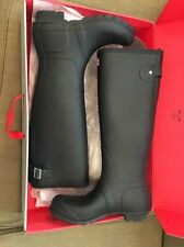 New Hunter Women's Original Back Adjustable Rain Boots Black 8