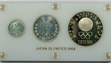 Silver Tokyo Olympic Commemorative Japan Coin and Medal Set