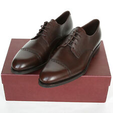 CARMINA mallorca 748 robert brown pebblegrain leather shoes 11.5-UK/12.5-US NEW