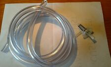 Go Kart Fuel Line 6' Roll 1/4 ID  Thick Wall Clear plus  90 Degree Fuel Filter
