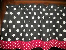 Black White Red Polka-Dot hello kitty minnie mouse fabric curtain Valance
