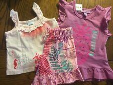 NWT NAARTJIE Girls 3 Piece Jie Jie & Pineapple Tops Flirty Flamingo Shorts 3-6M