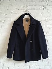 $399 J.Crew Bayswater WOOL peacoat Men XS H M NAVY double military field Slim