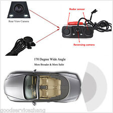 3 in 1 Dual Parking Radar & Rear View Color Camera Reverse Backup Night Vision