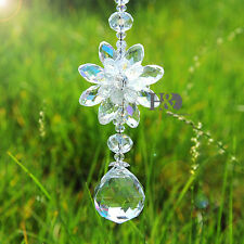 Hanging Suncatcher Sided Water Droplet Crystal Prisms Rainbow Feng Shui Pendants