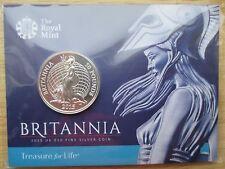 2015 UK £ 50 cinquanta sterline BELLE SILVER Britannia MEDAGLIA