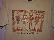 Vintage 90s Old Town San Diego Native American Indian Art T Shirt Tan L