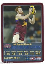 2009 Teamcoach Prize Card (08) Daniel MERRETT Brisbane
