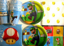 SUPER MARIO BROS. Birthday Party Supplies Set Pack for 16