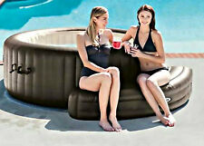 Inflatable Hot Tub Bench Portable Intex Spa Shaped Seat Accessory Piece New