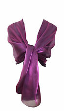 Silky Iridescent Wrap Stole Shawl For Weddings Bridal Bridemaids & Evenings Wear
