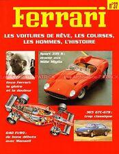 FERRARI 640 F1 89 - 365 GTC-GTS - 335 S - Jean ALESI Dino FERRARI - Fascicule 37