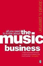 All You Need to Know About the Music Business, Donald S. Passman Paperback Book