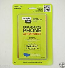 Straight Talk BYOP Universal Activation Kit for GSM 4G LTE & 3G  CDMA Phones