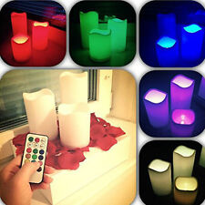 Flameless Flickering Candles LED Electric Battery Operated Set 3 ...