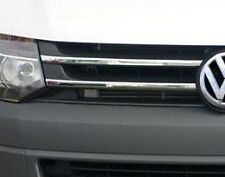 CHROME FRONT GRILLE ACCENTS TRIM SET 4pc FOR VW VOLKSWAGEN T5 TRANSPORTER 10+