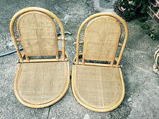 BAMBOO BEACH SAND CHAIRS VERY RARE AND UNIQUE  Indonesia Tan never used Two