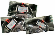 eGadget Car Steering Wheel Mobile Cell Phone Holder Mount HTC One M8 iPhone etc