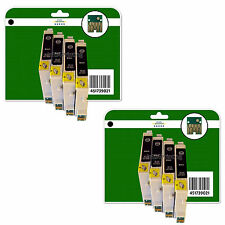 8 Black Ink Cartridges for Epson D68 D68 D88 DX4200 non-OEM E611-4