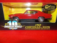 American Muscle 1:18  1968 Chevelle SS396 Deep Red  #36382