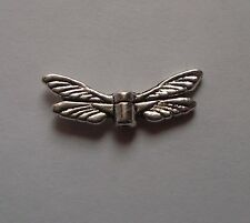20 TIBETAN SILVER  DRAGONFLY WINGS 20MM WIDE