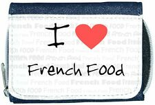 I Love Heart French Food Denim Wallet