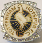 TOTTENHAM HOTSPUR Vintage insert style badge Brooch pin in chome 27mm x 27mm