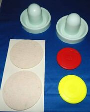 "Set of 2 Dynamo Air Hockey Table Goalie Mallets &Pads & 2 Ice Games 2 3/4"" Pucks"
