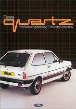 Ford Fiesta Mk 1 Quartz original UK Sales Brochure Pub. No. FA 596 not dated
