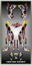 Can-Am DS 450 DS450  SEMI CUSTOM GRAPHICS KIT FLO1