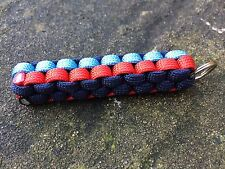 Paracord Keyring Keychain In Martini Racing Colours Lancia Porsche Williams F1