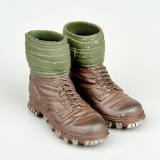 """1/6 WWII Men Doll Custom German&US Army Leggings Boots Shoes F 12"""" Action Figure"""