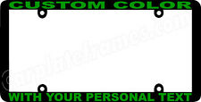 GREEN LETTERING THIN STYLE CUSTOM PERSONALIZED COLOR License Plate Frame