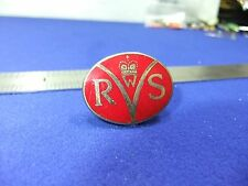 vtg badge wrvs womens royal voluntary service queens crown
