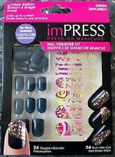 KISS imPRESS Nails Press-On Manicure Designer Kit - Great Neutral Color!