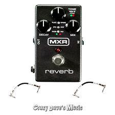 Dunlop MXR Reverb M300 Guitar Pedal w/2 Free Patch Cables