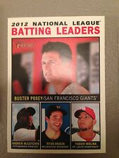 2013 Topps Heritage Leaders AVG Posey McCutchen Braun Molina Giants Pirates 7