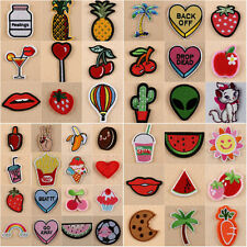 8Pcs/Set DIY Craft Embroidery Sewing&Iron On Patch Badge Fabric Applique Decor