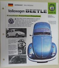 VOLKSWAGEN BEETLE IMP COLLECTOR BROCHURE SPECS 1945-1998 GROUP 9, NO 26