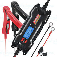 3.8A  LCD 6V12V Smart Motorclycle Car Float Trickle Battery Charger Maintainer