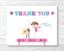 Gymnastics Birthday Party Thank You Card Printable