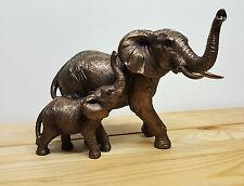 Reflections Bronze Elephant And Calf Ornament Figurine Figure Baby Gift