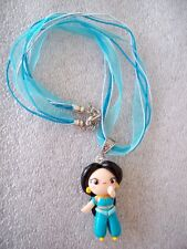 COLLANA CIONDOLO IN FIMO FATTO A MANO PRINCIPESSA JASMINE NECKLACE