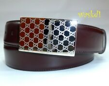 GUCCI brown 42-105 calf Leather bold GUCCISSIMA metal Buckle belt NWT Authentic!