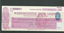 wbc. - CHEQUE - CH920 - USED -1936 - WESTMINSTER BANK, RICKMANSWORTH