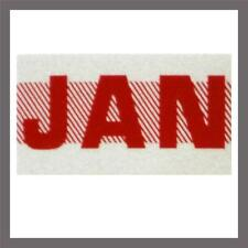 January Month California DMV License Plate Red Registration Sticker / Tag YOM CA