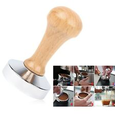 Essential Stainless Steel Wooden Handle Coffee Tamper Barista Espresso 51mm New
