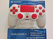 SONY PS4 WHITE & ALL RED MODDED RAPID FIRE CONTROLLER, BLACK OPS 3, DESTINY, BF1